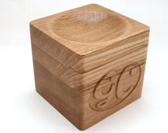 Oak Cufflink Box with dished Coin Tray can be Personalised with a Monogramme  sc 1 st  Etsy & Cufflink box | Etsy Aboutintivar.Com