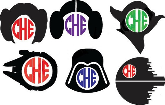 Star Wars Vinyl Monogram Yeti Cup Decal Car Decal Monogram