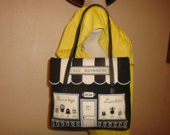 Final Clearance Black/White Lulu Guiness Satchel Bag
