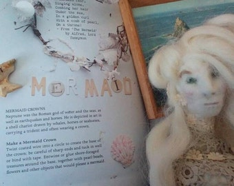 Needle felt mermaid Ooak
