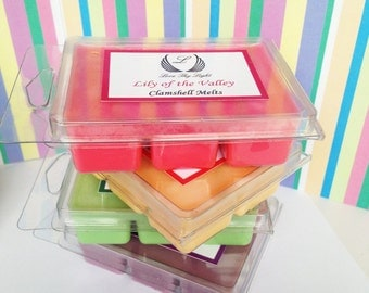 Wax melts, Night scented stock scented soy melts, soy wax tarts, soy wax clamshell melts, gift for her, gifts, Pink wax melts