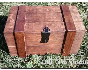 """Small Crate, Treasure Box, Treasure chest 7""""x4"""""""