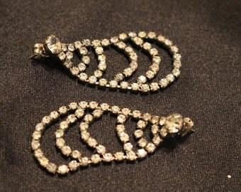 Drop Dangle rhinestone earrings