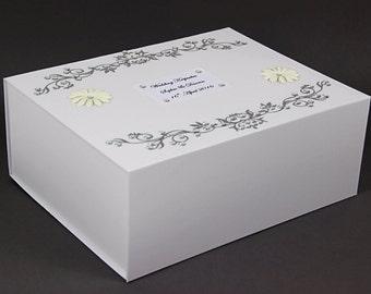 Wedding Memory Box/Engagement/Birthday/Personalised Keepsake, Wedding Gift
