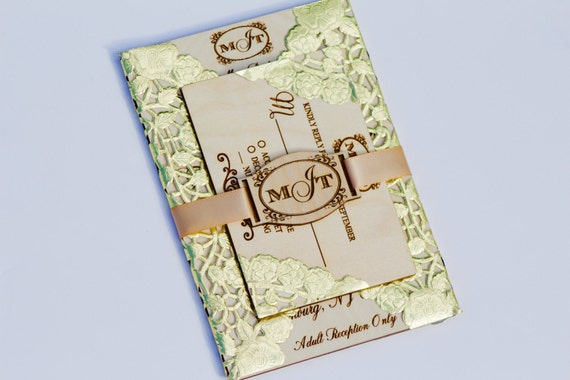 Laser Cut Wood Wedding Invitations: Wooden Wedding Invitations Laser Cut Wedding Invitations