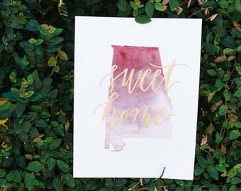 Sweet Home Alabama Print-READY TO SHIP