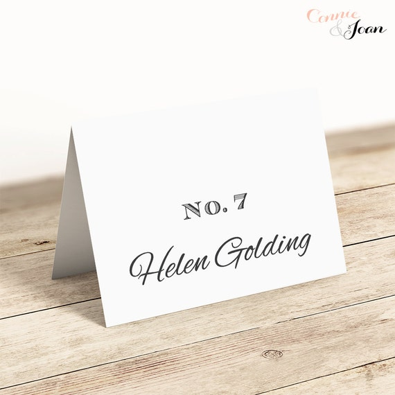printable table place name cards flat and folded table place