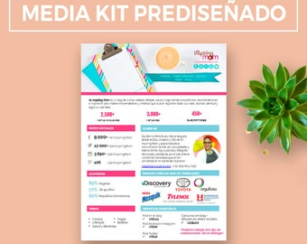 Media Kit pre-designed and modifiable for Bloggers