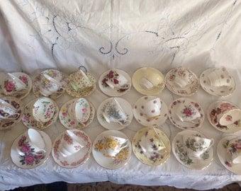 20 vintage tea cup and saucer set