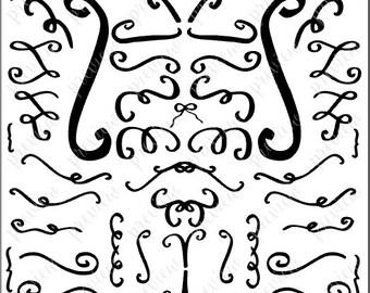 Flourishes (SVG, PDF) Hand-drawn