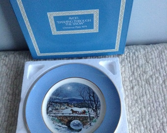 Avon Christmas Plate 1979