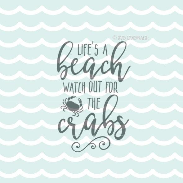 Download Beach SVG Life's A Beach SVG Vector File. Cricut Explore