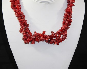 Fashion red stone necklace