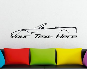 Large Custom car silhouette wall sticker - for Chevrolet Corvette C5 convertible