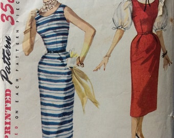 Simplicity 1085 misses dress or jumper & blouse size 12 bust 30 vintage 1950's sewing pattern