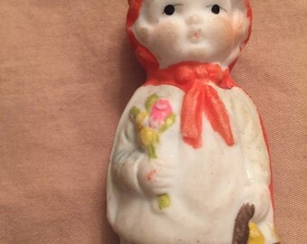 Beautiful Vintage Bisque Doll, Made in Japan