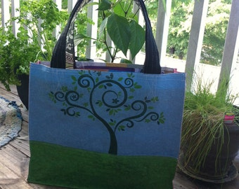 B Happy Upcycled Tote