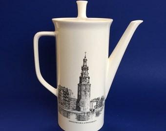 Vintage VILLEROY & BOCH Tea Coffee Pot Westertoren Montelbaanstoren porcelain