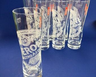 2 of 4 Peroni Beer Glass Pilsner Tumblers .30 liter advertizing