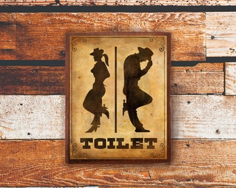 Toilet Sign (Wood Sign, Door Sign, Funny Sign, Decor Bathroom, Decor Home)