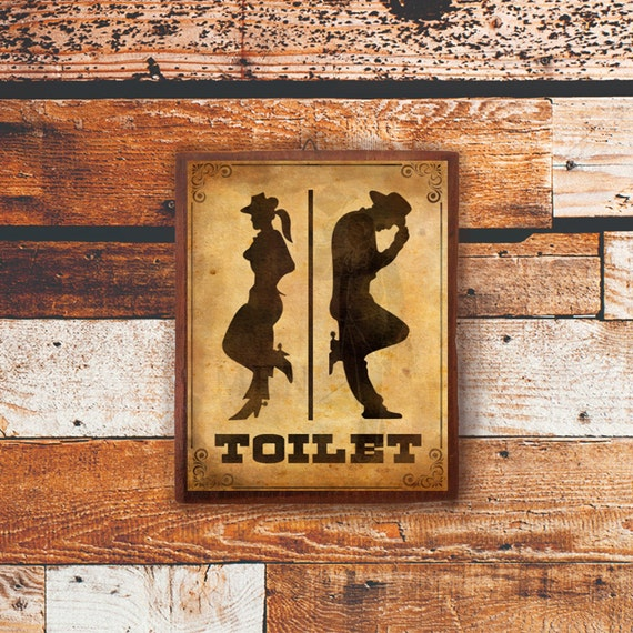 Toilet Sign Wood Sign Door Sign Funny Sign Decor Bathroom