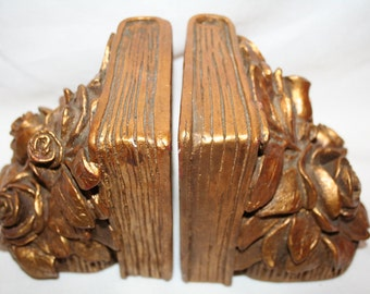 Gold Tone Lloyd Bryan Style Bookends