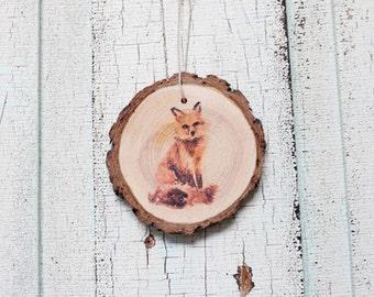 Fox Wood Ornament