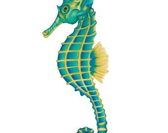 "Seahorse ""Seacil"" Art Print - Colored Pencil 11x17"