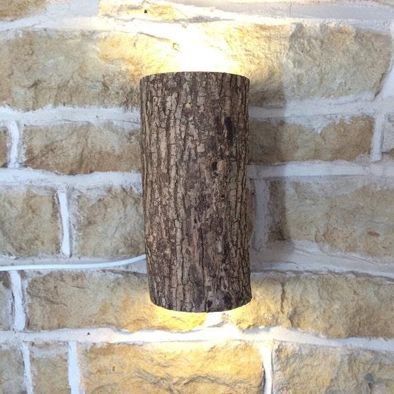 Wooden Log Wall Light Real Log Wall Light Fixture Light