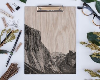 El Capitan Yosemite Park, Wooden Clipboard, Natural White Oak
