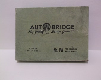 AUTOBRIDGE Play-Yourself Bridge Game - Deluxe Pocket Model No. PA For Advanced Bridge Players