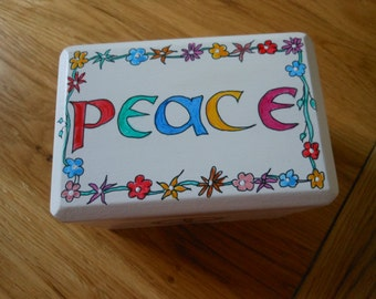 Peace symbol decorative/ornamental/jewellery/ trinket box