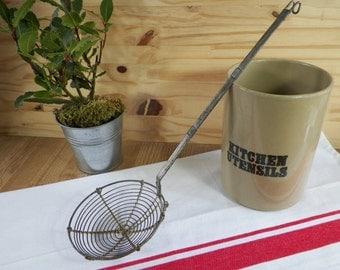 Wire strainer, wire skimmer, skimming ladle vintage | Kitchen Made in France