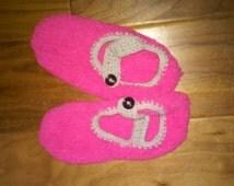 Crochet child slippers, crochet slippers,kids Crochet booties,fuzzy cozy pink slippers,crochet silk futlr warm slipper booties,valentines