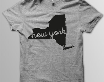 Custom NEW YORK Hometown American Apparel Tri blend Tshirt