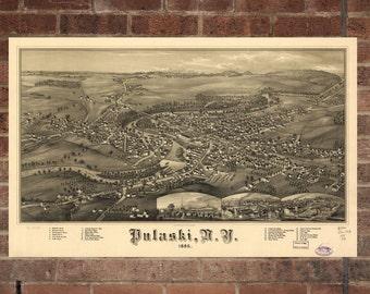 vintage pulaski print aerial pulaski photo vintage pulaski ny pic old pulaski photo pulaski new york poster 1885 antique pulaski apothecary style