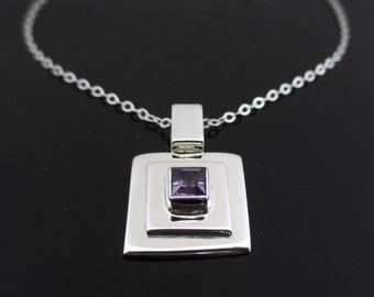 Sterling Silver Necklace Purple, Silver Necklace, Necklace Silver, Sterling Silver Necklace, Silver Necklace Purple, Purple Necklace Silver