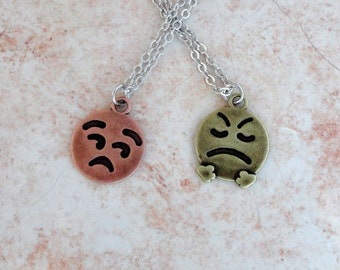 Smiley Face Necklace, Smile Face, Smile Jewelry, Cute Smile Necklace, Cute Necklace, Smiley Face, Happy Face, Emoji Necklace