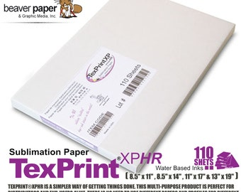Sublimation Transfer Paper *** Texprint *** Pack of 110 Sheets FREE shipping
