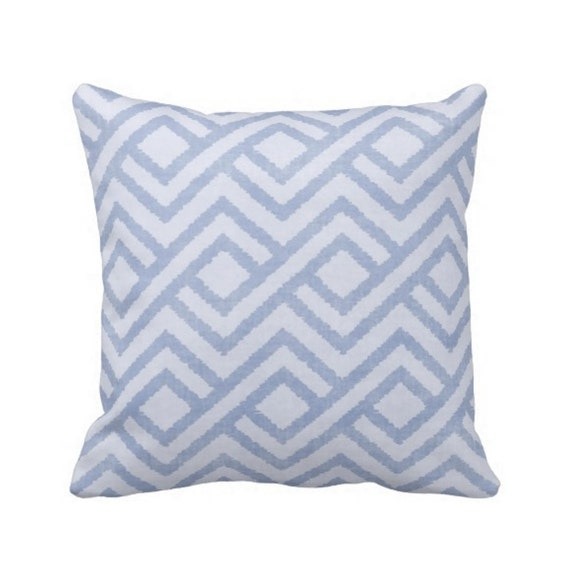 Geometric Throw Pillow Cover Chambray by PatternBehavior on Etsy