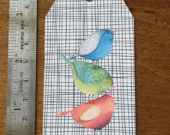 8 Sweet Tweet Gift Tags, Paper and Party Supplies, Tags