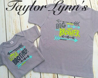 Big brother shirt, little brother shirt, brother set, sibling set,