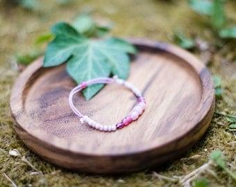 Mauve beaded bracelet
