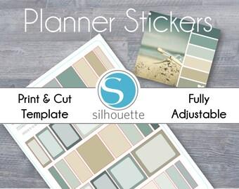 Compact Passion Planner MultiBox Stickers - Silhouette Studio File