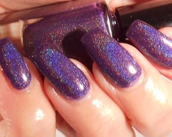 sale Alti - purple linear holographic nail polish