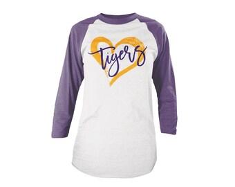 Women's Tigers Football Season TShirt | LSU Football Shirt | Favorite Team TShirt | Saturday Shirt