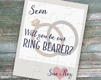 Will you be our ring bearer puzzle - ring bearer proposal - custom puzzle - ring bearer gift - wedding ring puzzle - junior groomsman