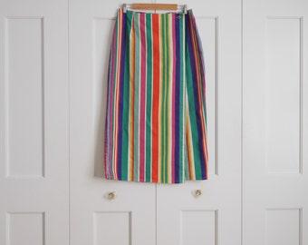 multi-colored panel skirt