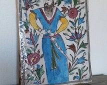 Antique Qajar Persian tile Persian Warrior Islamic art