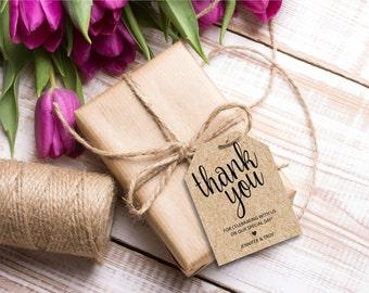 Thank You Tag, Wedding thank you tags, Wedding Favor, Thank you printable, editable pdf, instant download